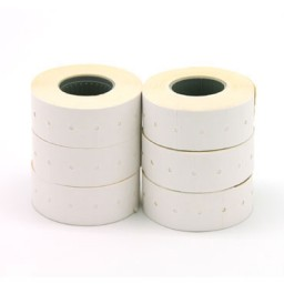 6 rollos etiqueta manual 21x12 mm. blanca Apli 100910